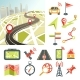 Navigation Map Road and Direction Navigative - GraphicRiver Item for Sale