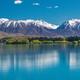 Lake Ruataniwha, New Zealand, South Island, trees and mountains, - PhotoDune Item for Sale