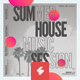 Summer House Session - Party Flyer / Poster Template A3 - GraphicRiver Item for Sale