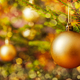Decoration bauble on decorated Christmas tree - PhotoDune Item for Sale