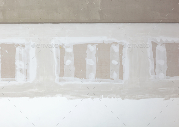 Front view of gypsum wall. - Stock Photo - Images