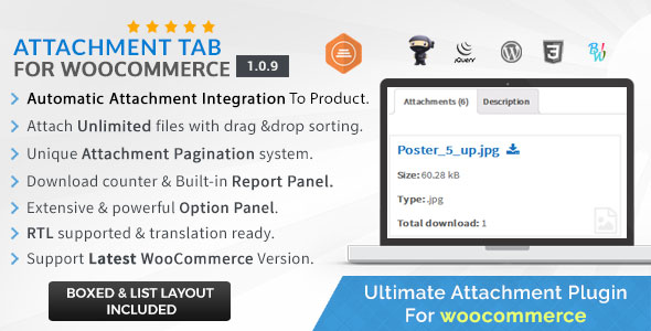 Attachment Tab For Woocommerce