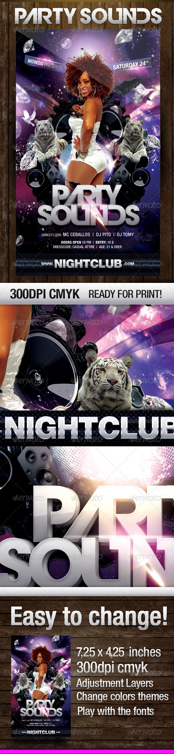 Party Sound Flyer - Clubs & Parties Events