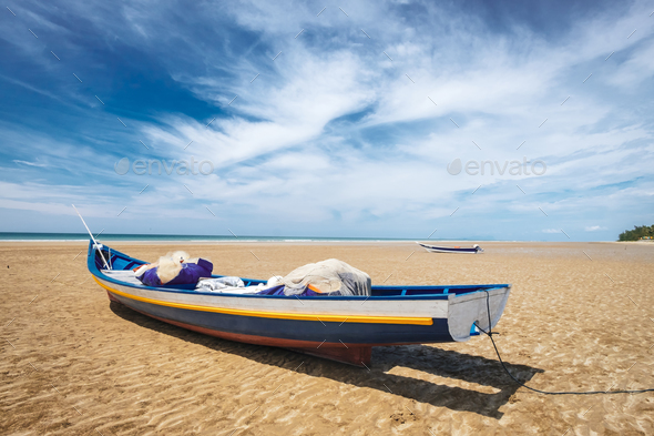 BORNEO / SARAWAK / MALAYSIA / JUNE 2014: Wonderful sand beach in - Stock Photo - Images