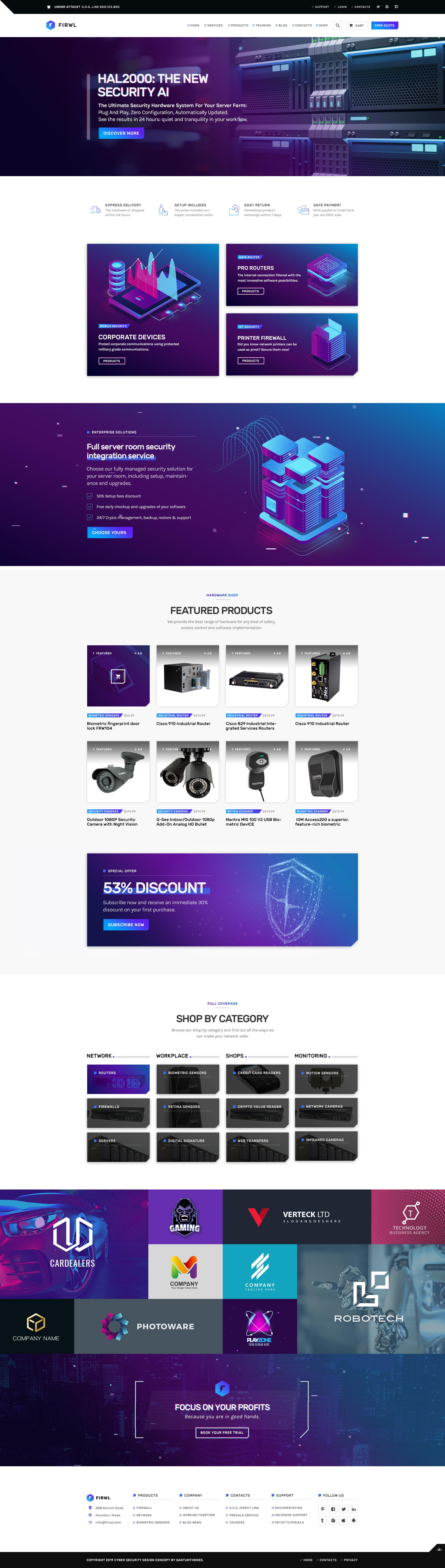 Firwl - Cyber Security PSD Website Template