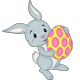 Cheerful Jumping Easter Bunny