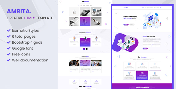 Amrita - Creative Multipurpose  HTML Template