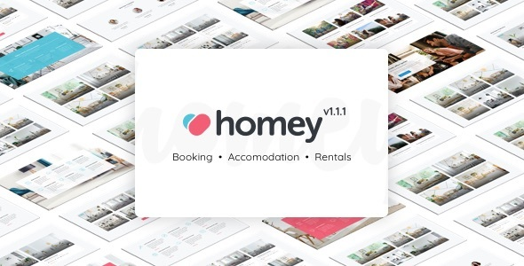 Download Homey – Booking and Rentals WordPress Theme nulled 01 preview