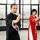 Couple of senior masters practicing qi qong taijiquan - PhotoDune Item for Sale