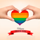 Gay Pride Concept Rainbow Heart Shaped in Hands - GraphicRiver Item for Sale