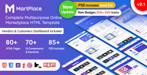 Martplace Multipurpose Online Marketplace Html Template With Dashboard