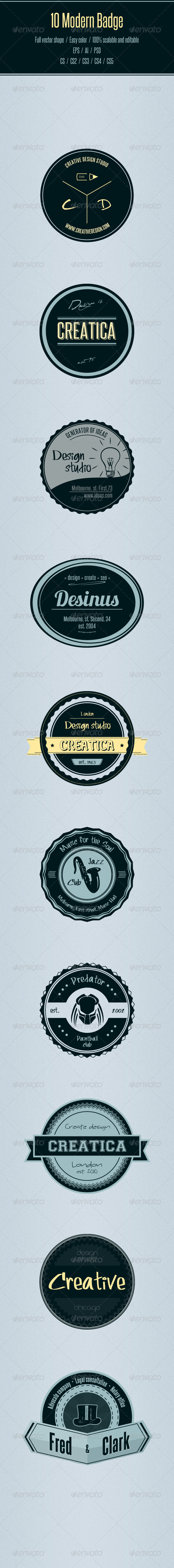 10 Modern Badge - Badges & Stickers Web Elements