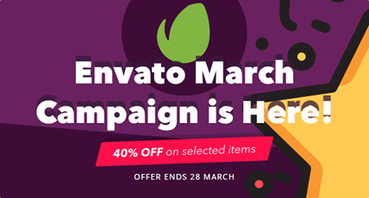 Check Out Our items in the 2019 Envato Mega March campaign