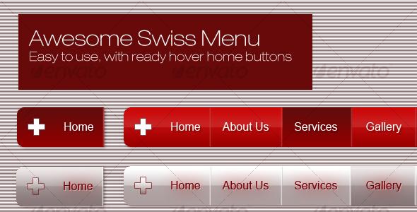 Swiss Menu - Web Elements