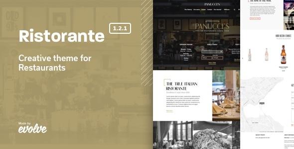 Download Ristorante – Creative Restaurant WordPress Theme nulled 00 screenshot ristorante