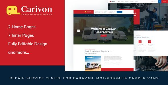 Great Carivon - Repair Service Centre for Caravan & Motorhome HTML Template