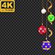 Christmas Balls Frame - 4K - Alpha - Loop - VideoHive Item for Sale