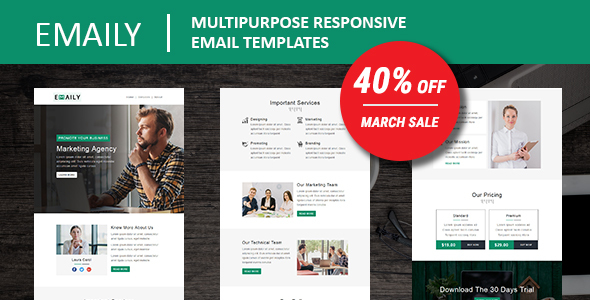 Emaily - Multipurpose Responsive Email Template With Online StampReady Builder Access