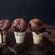 Chocolate ice cream in waffle cups - PhotoDune Item for Sale