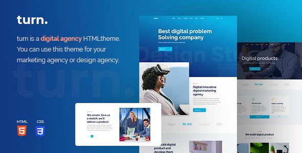 Turn Digital Agency HTML Template