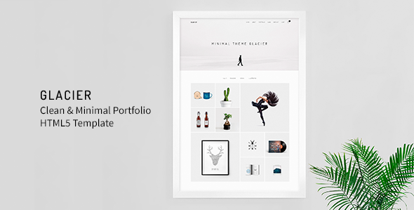 Glacier - Clean & Minimal Portfolio HTML5 Template by MountainTheme