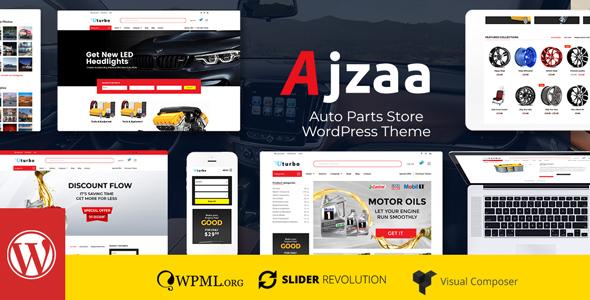 Ajzaa - Auto Parts & Car Accessories Store WordPress Theme