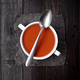 bowl of tomato sauce with spoon on rustic wood with natural light - PhotoDune Item for Sale