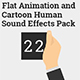 Flat Animation and Cartoon Human Sound Effects Pack