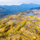 beautiful yuanyang terraced field landscape and village at dusk - PhotoDune Item for Sale