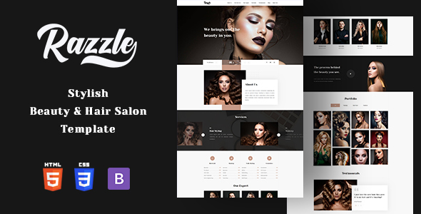 Awesome Razzle - Beauty Salon HTML Template