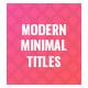 Modern Minimal Titles - VideoHive Item for Sale