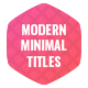 Modern Minimal Titles - Essential Graphics - VideoHive Item for Sale