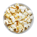 Popcorn in bowl isolated on white background - PhotoDune Item for Sale