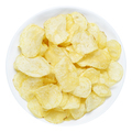 Potato chips in bowl isolated on white background - PhotoDune Item for Sale