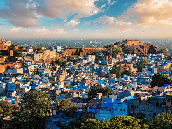 Jodhpur Blue City, India - Stock Photo - Images