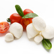 Mozzarella, tomatoes and basil on white - PhotoDune Item for Sale
