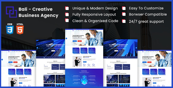 Bali - Creative Business Agency HTML5 Template