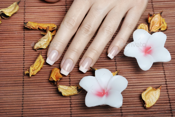 French manicure - Stock Photo - Images