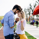 young couple hugging dating and kissing outdoor - PhotoDune Item for Sale