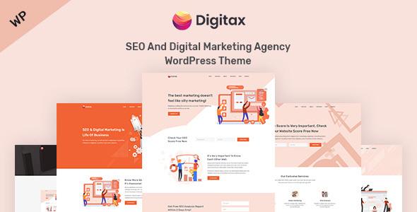 Digitax – SEO & Digital Marketing Agency WordPress Theme Free Download