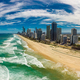 Surfers Paradise beach from aerial drone perspective, Gold Coast - PhotoDune Item for Sale