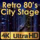 Retro Futuristic 80's City Stage - VideoHive Item for Sale