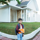 asian boy student in the morning on the way to school - PhotoDune Item for Sale