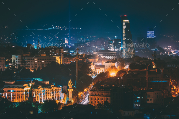 Tbilisi, Georgia. Construction Development Of Modern Architectur - Stock Photo - Images