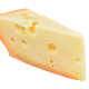 Piece of cheese with holes isolated - PhotoDune Item for Sale