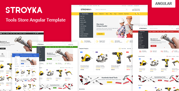 Stroyka – Tools Store Angular 11 eCommerce Template