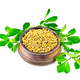 Fenugreek with green leaves in bowl - PhotoDune Item for Sale