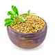 Fenugreek with leaf in clay bowl - PhotoDune Item for Sale