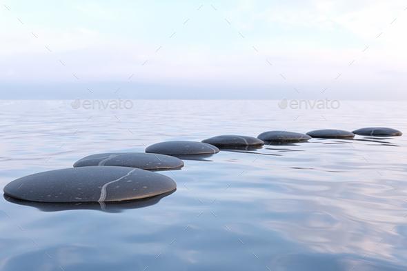 Zen Stones In Water Stock Photo By F9photos Photodune