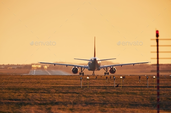 Airplane ready for take off - Stock Photo - Images